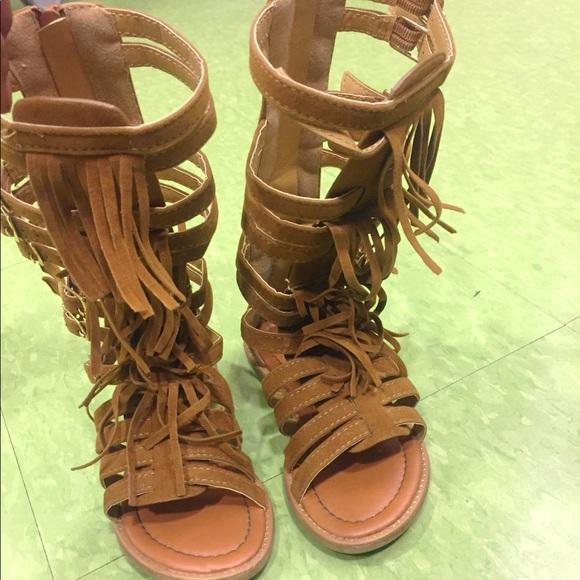 34d9690b559 Link Other - Toddler Girl Suede Gladiator Sandals